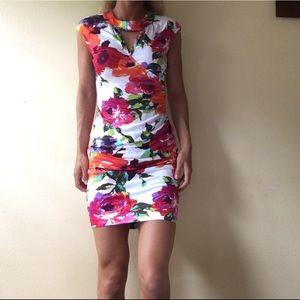 Cache Couture Floral Print Dress